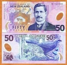 New Zealand, $50, 2014, Polymer, P-188b, New Signature, UNC > QEII