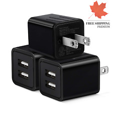 USB Wall Charger Wall Charger 3Pack 5V 2 1A Dual USB Wall Charger Plug 2 Port...