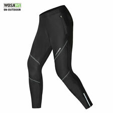 Men Winter Trousers Fleece Thermal Long Pants Waterproof Cycling Tights Warm