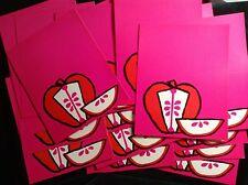 WOODSTOCK GROOVY POP ART 20 1960s COLOR APPLE FOLD OVER POSTCARDS  #9