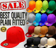 NEW BEST TOP QUALITY HATCO PLAIN SOLID BLANK FITTED HAT ALL COLORS ALL SIZES 2