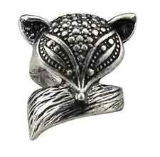 Vintage retro style antique effect fox charm ring