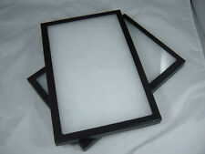 two riker mount Jewelry display case collectors display box shadow 8 X 12 X 7/8