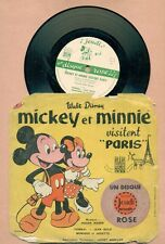DISQUE 78 T / WALT DISNEY - MICKEY et MINNIE VISITENT PARIS - DISQUE ROSE N ° 1
