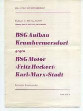 """DDR-Liga 80/81 construcción krumhermersdorf-motor """"Fritz Heckert"""" Karl-Marx-Stadt"""