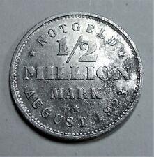 1/2 Million Mark 1923 J - Notgeld Freie & Hansestadt Hamburg - vz / xf