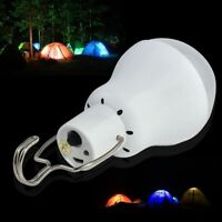 Outdoor Solar Panel Powered LED Bulb Light Camping Tent Energy Lamp Portable 15W