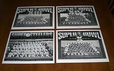 4 PITTSBURGH STEELERS SUPER BOWL 8x10 B&W PHOTOS