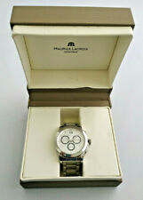 Mens Maurice Lacroix Stainless Steel Miros Chronograph Watch ML1077 Boxed