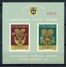 Colombie 1967 Mi. Bl. 28 Bloc Feuillet 100% **. SEAC Bogota.