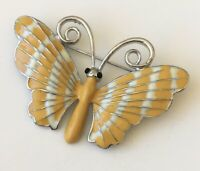 Vintage style   butterfly  Brooch  Pin enamel on Metal
