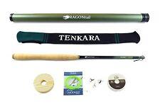 DRAGONtail HELLbender Tenkara Rod + Complete Starter Pack, 13ft rod for Big Fish