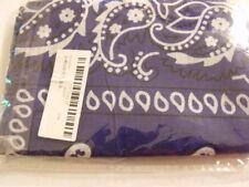 BANDANA Scarf foulard 100% coton  blanc marron bleu  bi couleurs  / neuf