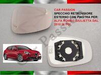 specchio retrovisore ALFA ROMEO GIULIETTA dal 2010 SINISTRO SX vetro TERMICO