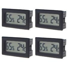 4Pcs Mini Digital LCD Indoor Thermometer Hygrometer Humidity Temperature Meter
