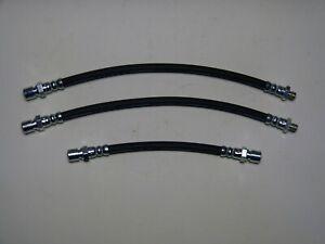 3 x Bremsschlauch/Bremsschläuche, 2x vorne 1x hinten für Opel Kadett A