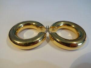 Große Creolen 750 Gold Ø 3,4cm 8 Gramm 18 Karat Designer Ohrringe