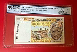 WEST AFRICA STATES BANQUE CENTRALE ETATS L'AFRIQUE DE L'OQEST 1993 1000 FRANCS
