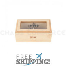 RYOT 4 x 7 Inches GLASS TOP Screen Box Color: Natural - Quality Decorative Boxes