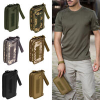 """Tactical Military Mens Wallet ID Card Money Key Hand Bag 6"""" Cell Phone Pouch"""