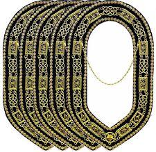 Blue Lodge Working Tool Golden Collar Chain Treasurer KEY Pendant DMR-400GB+TK