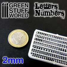 Letras y numeros 2mm - para peanas miniaturas Blood Bowl warhammer