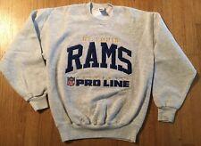 Vintage Pro Line Authentic Embroidered St Louis Rams Gray Crewneck Sweatshirt M
