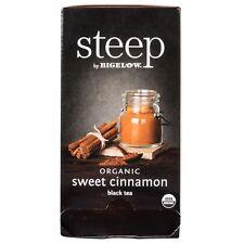 Bigelow Steep Sweet Cinnamon Black Tea 20 Wrapped Bags 1.5 oz