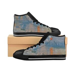 Men's High-top Sneakers - Impression, soleil levant - Monet