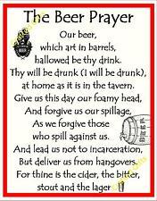 Handmade Plaque Special Gift Sign funny Novelty Birthday Present 'Beer Prayer'