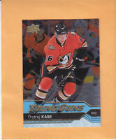 2016 17 UPPER DECK YOUNG GUNS ROOKIE SILVER FOIL #489 ONDREJ KASE ANAHEIM DUCKS