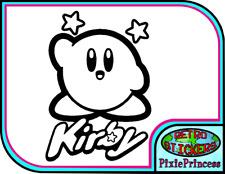 Kirby Nintendo N Vinyl Sticker Poster Wall Art Laptop Console Car Window Decal
