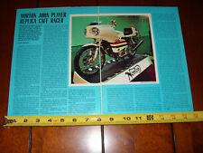 NORTON JOHN PLAYER REPICA CAFE RACER - ORIGINAL 1974 ARTICLE