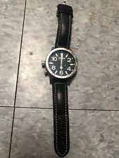 NIXON 51-30 Watch Black Dial Face & Silver Body large 5130 barneys wrist Leather