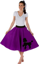 Adult Poodle Skirt Purple with Musical note printed Scarf