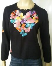 Butterfly Long Sleeve Regular Size Tops for Women