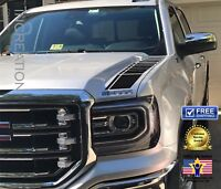 2 Truck vinyl decal racing sticker Stripes Compatible With GMC Sierra hood Sides
