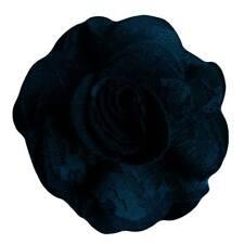 Pince à cheveux broche fleur feutrine bleu nuit dentelle cérémonie mariage