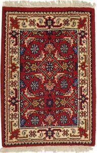 Vintage Style Tribal Floral Design 2X3 Indo-Bidjar Oriental Rug Farmhouse Carpet