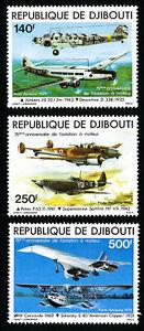 Djibouti Stamps # C134-6 XF OG NH Set of 3