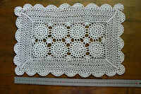 CROCHET CENTRE Cotton CREAM Rectangle 8 x 65mm Motives Approx 28x44cm LF50/51