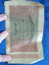 German Banknote 20000 Mark Marks 20 September 1923 Germany Bank Note