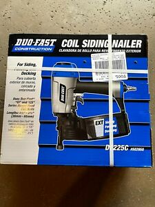 """DUO FAST DF225C COIL SIDING NAILER PNEUMATIC 0 DEGREE 1-1/2"""" to 2-1/2"""" BRAND NEW"""