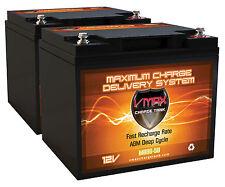 QTY (2) VMAX MB86-50 SUNTECH WHEELCHAIR MOBILTY 12V 50AH AGM Battery