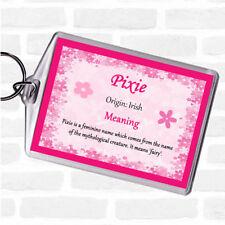 Pixie NOME SIGNIFICATO Borsa Tag Portachiavi Portachiavi Rosa