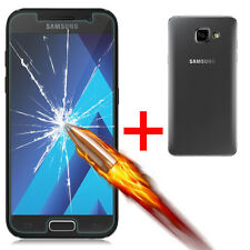 9H Premium Tempered Real Glass + TPU Case Clear for Samsung Galaxy A3 A5 A7 2017