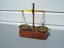 vintage letter scales on box with weights class B weigh 300G GPO? HS Walsh & son