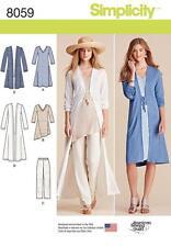 SIMPLICITY SEWING PATTERN  MISSES' DUSTER PANTS KNIT DRESS SIZES XXS - XXL  8059