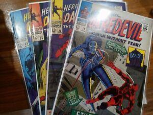 Silver Age Higher Grade Daredevil Comic Lot Mylar Stilt Man