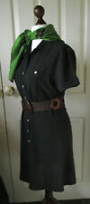 DOROTHY PERKINS Dress Chocolate Brown Shirt Safari *UK size 10